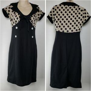 Polka Dot Scoop Neck Vintage Inspired Dress